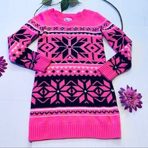 Justice Girls Pink Sweater Dress Size 14